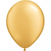 Metallic Radiant Gold Latex Balloons 10ct