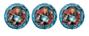 3 Marvel Thor Mylar Balloons - Multi Pack of 3 Thor Super Hero Foil Balloons