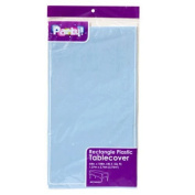 Party Supplies - Baby Blue Plastic Table Covers, 140cm x 270cm