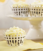 Picturesque Picket Fence Filigree Paper Cupcake Wrappers - White