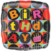 80cm Birthday Squares Foil Balloon