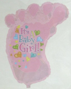 It's a Baby Girl Footprint Shaped Balloon 100cm