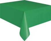 Elegant Plastic Table Cover - Christmas Green