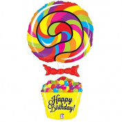 Lollipop Birthday Foil Balloon