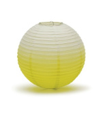Ombre Coloured Round Paper Globe Lanterns - Candy Apple Green