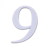 Koyal Wholesale Monogrammed Number with Adhesive Backing, 8.9cm , White, Number 9