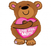 Love You, Mom! Big Bear Hug 70cm Mylar Balloon