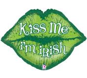 Kiss Me I'm Irish Lip Shaped 80cm Mylar Balloon