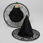 Kids Black Witch Hat with Glitter Pattern