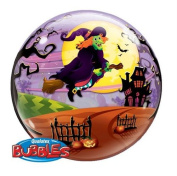 Halloween Decorations - 60cm Halloween Bubble Balloon - Scary Witch
