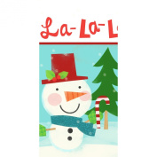 Holiday Table Cover - Snowman Theme Plastic Tablecover