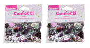 Foil Confetti Pink Red Hearts Silver Ring Wedding Shower Reception 60ml