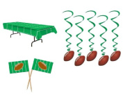 Cool FOOTBALL PARTY DECOR/DECORATIONS/Game Day TABLECLOTH Table Cloth/50 Appetiser PICKS/Hanging Dangling FOOTBALL WHIRLS/Swirls/SPORTS Parties/TEAM Party/POP WARNER/NFL