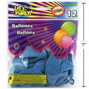 Let's Party-12pcs 30cm Helium Quality Balloon, Blue