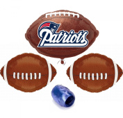 New England Patriots NFL Football Anagram Mylar Foil Balloons Starter Pack - 5pc Balloon Kit