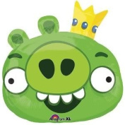 Toy / Game Angry Birds Green Pig 60cm Foil Balloon - Double Sided and Self Sealing - Great for Children's Party