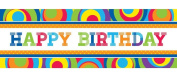 Creative Converting Party Decoration Banner, Mod Circle Birthday, 5-Feet