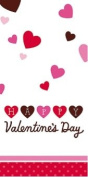 Valentine's Day Table Cover - Valentines Day Plastic Tablecover