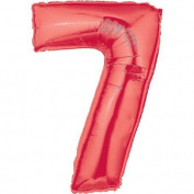 Megaloon Number 7 Red Foil Balloon