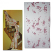 Beistle Bloody Handprints Cloth Decoration, 80cm by 9-Feet 15cm