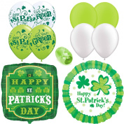 Happy St Patrick's Day Balloon Bouquet Latex & Mylar 11pc Starter Pack - Party Decorating