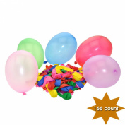 YazyCraft Multi-coloured Dart Balloons 166 count