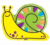 80cm Mighty Bright Yellow Snail Mylar Balloon