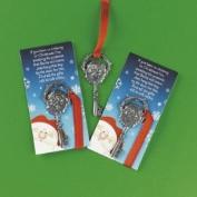 Mini Santa Claus Door Keys -- Santa's Christmas Keys