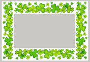 Irish Window Border Window Cling - Clovers 2pk