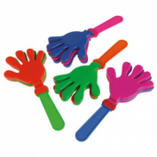 Dozen Assorted Colour Plastic Hand Clappers