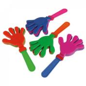 Dozen Assorted Colour Plastic Hand Clappers