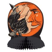 Beistle Witch and Moon Centrepiece, 25cm