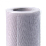 Koyal Wholesale 25-Yard Tulle Roll, 15cm , White