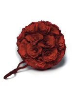 Floral Pomander Ball made with Wood Curls - Small - Red