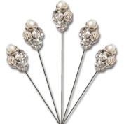 David Tutera Pearl-Top Crown Shaped Pick 5ct