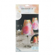 8 Vellum Multi-Coloured Opaque Wine Glass Table Top Lamp Shades