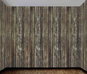 Haunted House Rotted Wood Wall