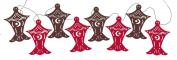 Lantern Garland - Red and Brown