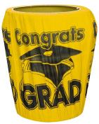 Yellow Congrats Grad Graduation Trash Can Cover Party Supplies