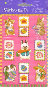 Easter Bunnies Eggs Flowers Scrapbook Stickers