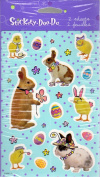 Dressed Up Easter Bunnies and Chicks Scrapbook Stickers