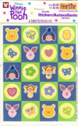 Disney Winnie the Pooh Pastel Colour Scrapbook Stickers