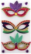 EK Success Brands Jolee's Boutique Decorative Stickers, Mardi Gras Masks Dress Ups