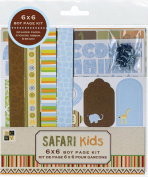 DCWV CP-012-00065 Boy 6X6 Page Kit Safari Kids