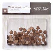 Studio Calico Wood Veneer Tiny Hearts Wooden Embellishments