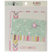 Fancy Pants Be Loved Titile Piece Valentine Scrapbook Embellishments