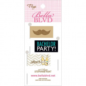 Bella Blvd Engaged At Last Bachelor Stick Pin Paper Flags