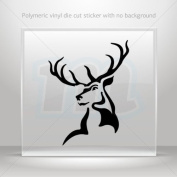 Decals Sticker Male Deer Head car helmet window Boat jet-ski Garage door 0502 W9X24