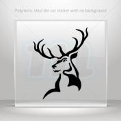 Decals Sticker Male Deer Head car helmet window Boat jet-ski Garage door 0502 W9X24