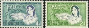 South Vietnam Stamps - 1960, Scott 144-5, Girl With Basket of Rice and Rice Plant, MLH, F-VF